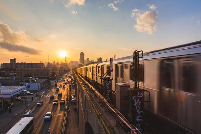 subway train commute