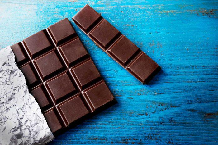dark chocolate squares