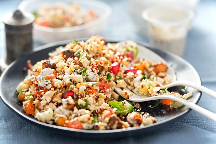 plate of quinoa-and-vegetable salad