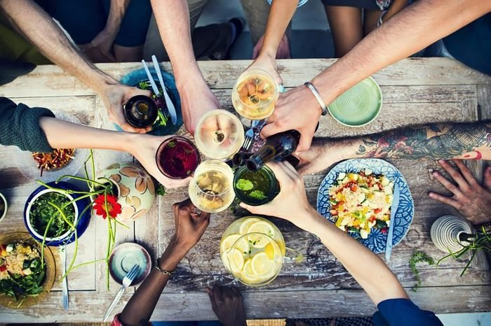 people dining with friends