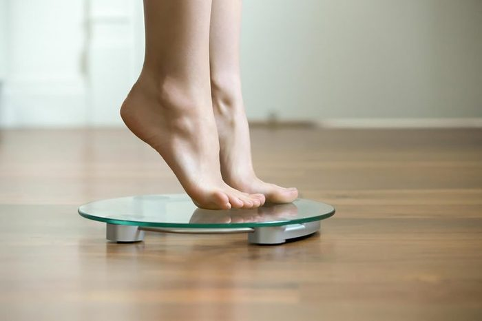 feet on scale