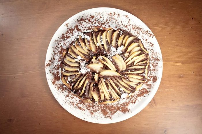 Chocolate pears.