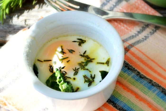 Baked-Eggs-with-Kale-and-Fresh-Herbs
