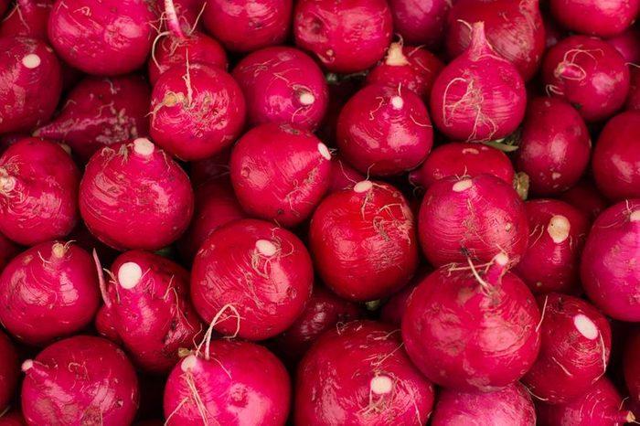 Raw radishes.