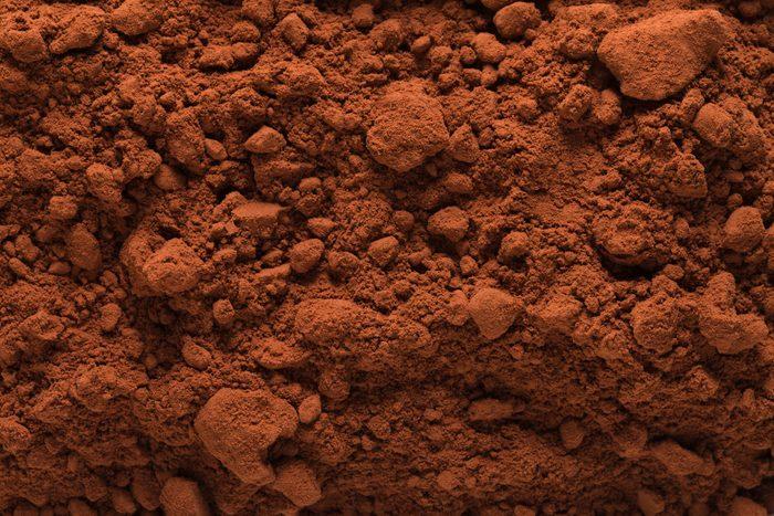 cocoa/cacao powder full frame
