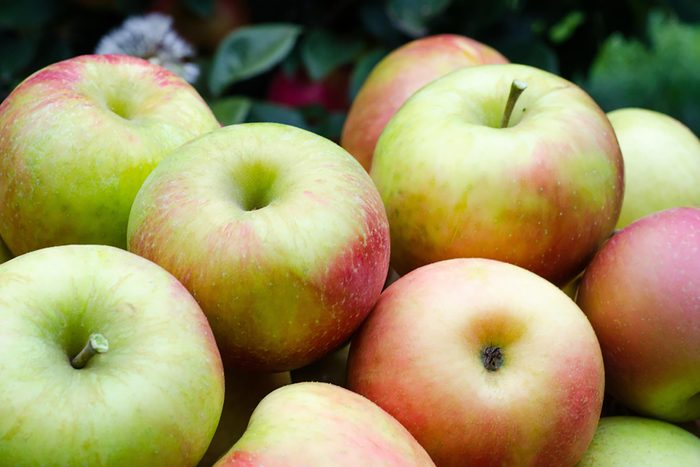 group of red/green apples