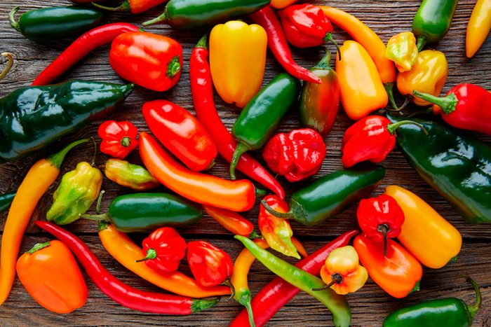 variety of peppers
