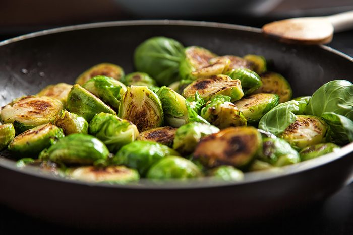 brusselsprouts in a skillet