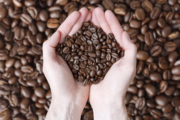 coffeebeans in hands