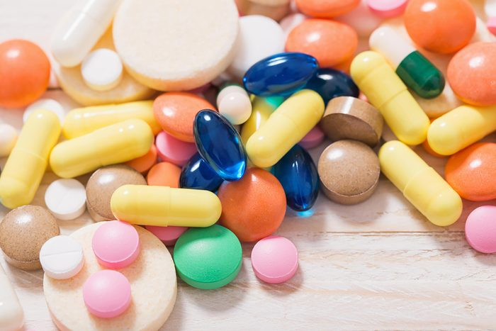 variety of colorful vitamins