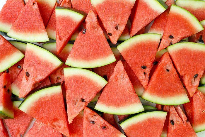 triangular slices of watermelon