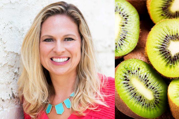 Rebecca Scritchfield and kiwi