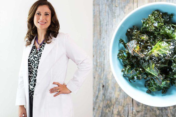 Sarah Ballantyne and a kale salad