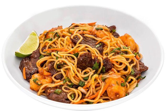 Japanese Steak Shrimp with noodles from peiwei.com