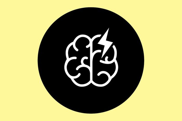 Illustration of a glitch in the brain, indicating a stroke.