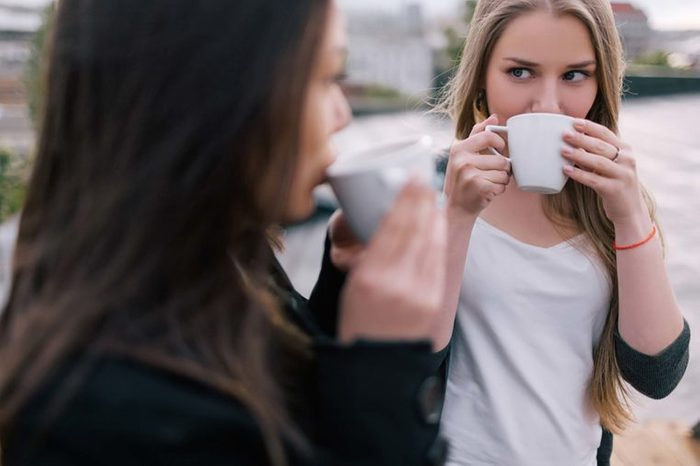 friends sipping coffee