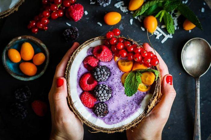 fruit over Greek yogurt