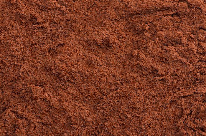 close-up of cocoa powder