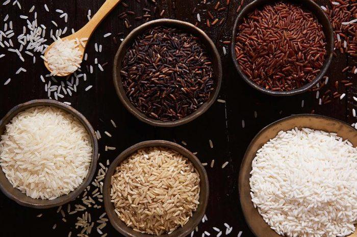 Rice varieties in bowls
