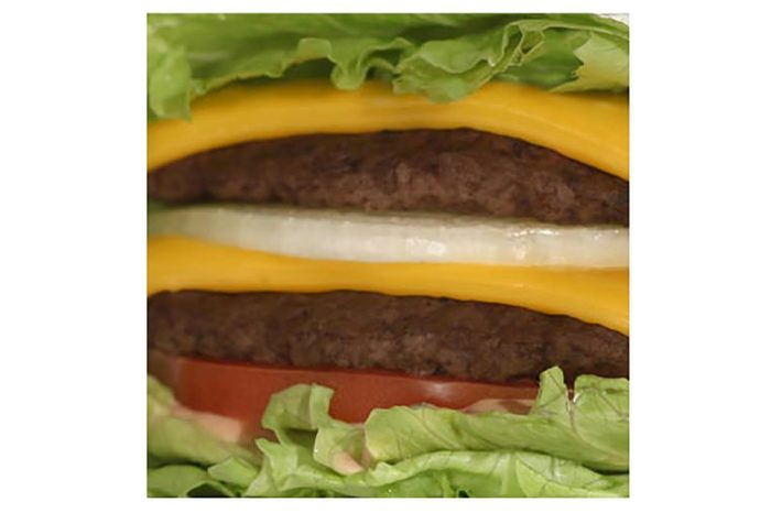 In-and-Out hamburger with cheese.