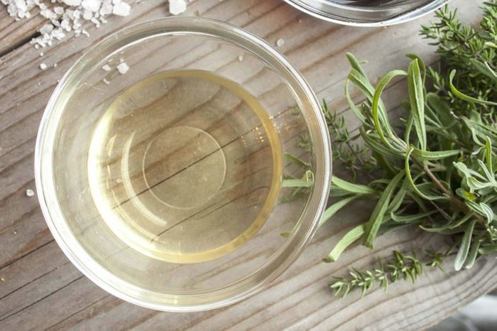 vinegar in clear bowl