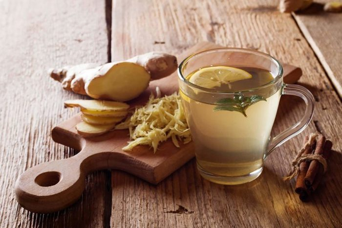 ginger, raw and in tea
