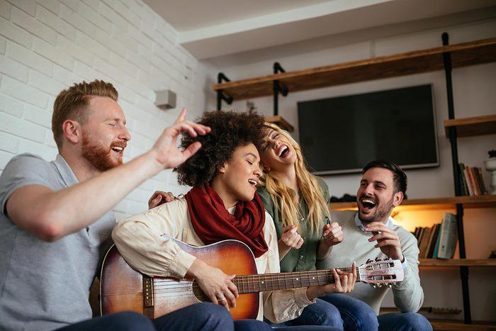 4 people singing