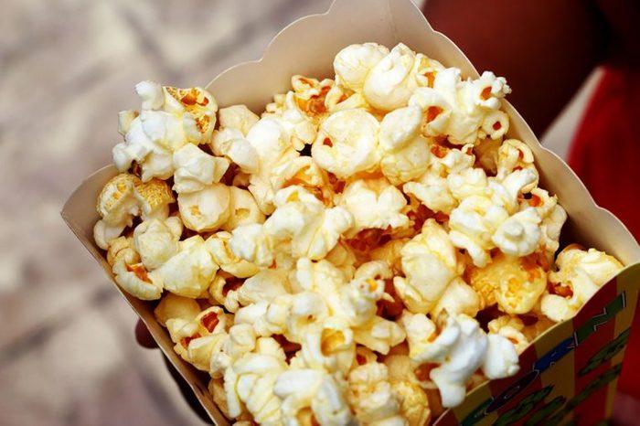 bag full of buttered popcorn