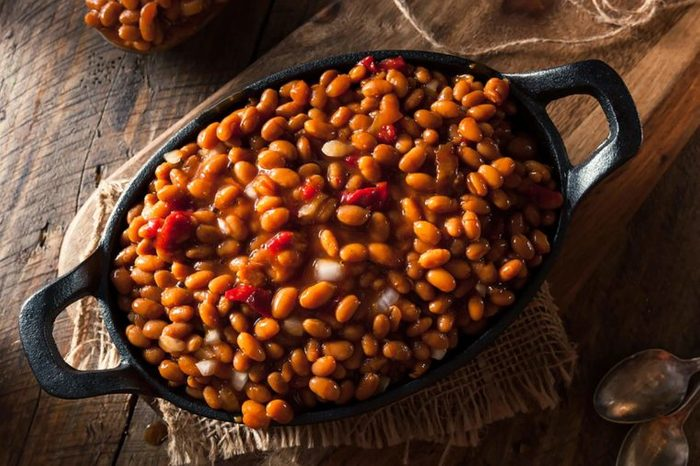 baked beans in dish