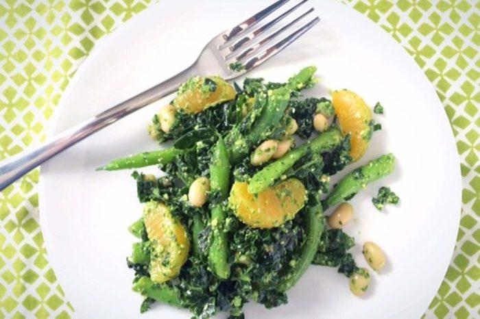 kale green bean white bean