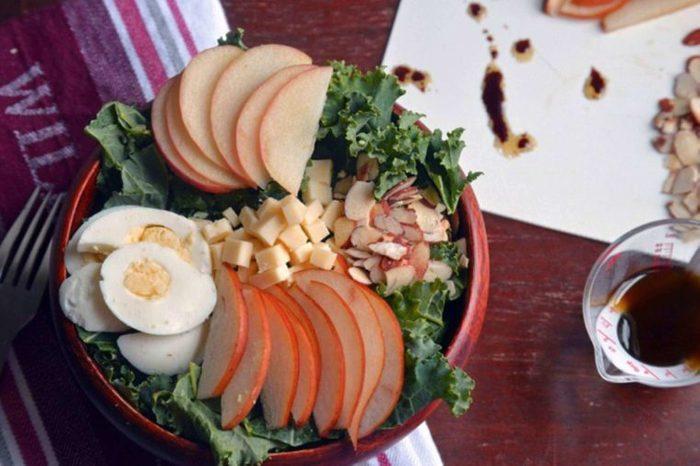 kale pear apple almond