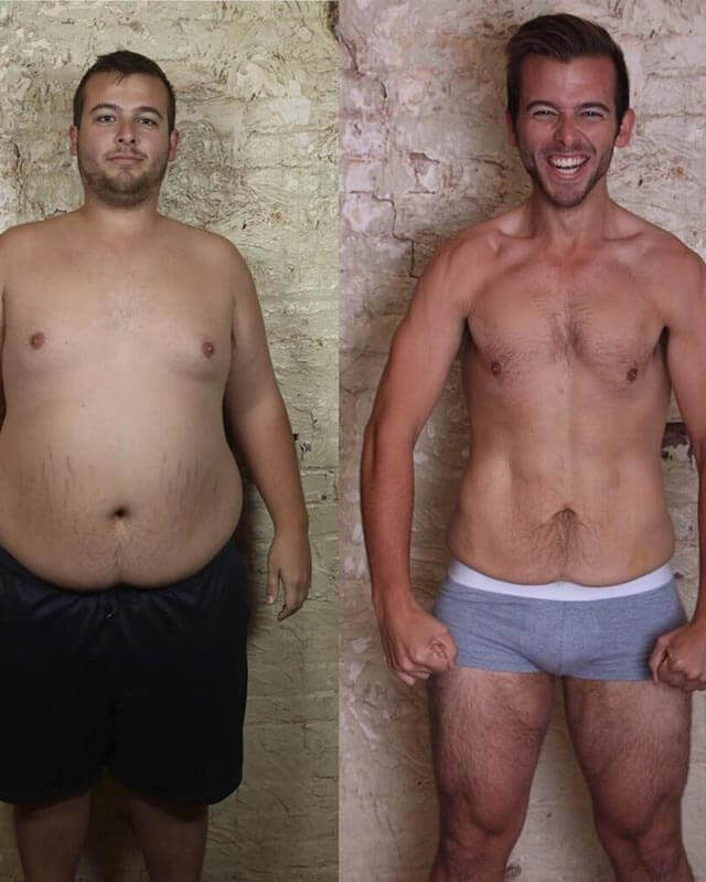 Tyler Whitman, before and after