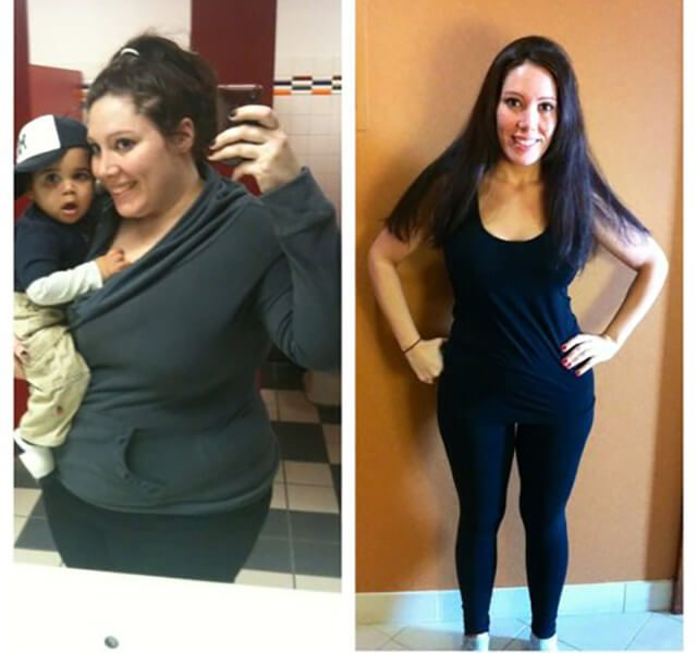 Before and after pictures of Charlene Veasley