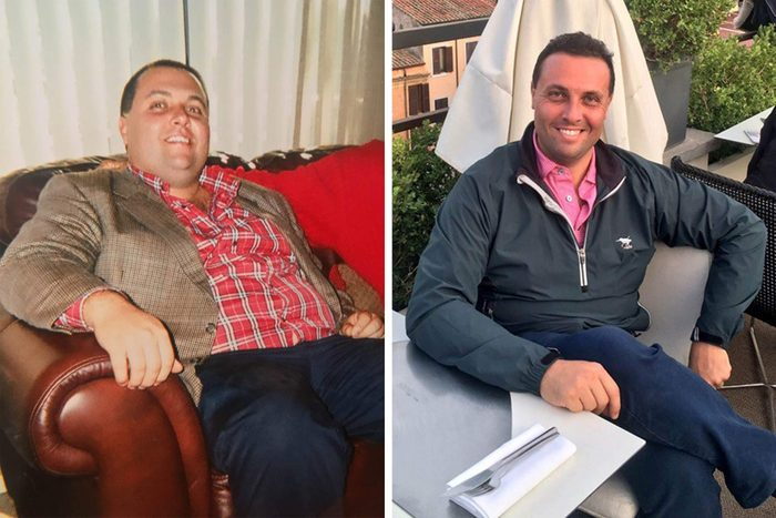 Fred Bollaci, before and after