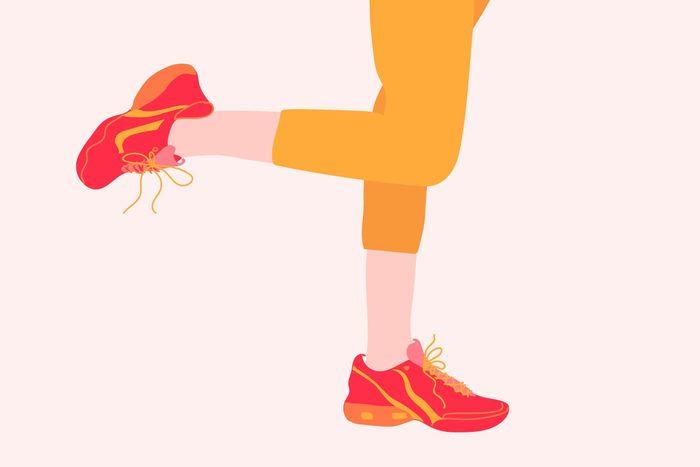 illustration of person balancing on one leg