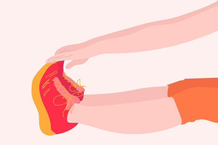 illustration of someone touching toes