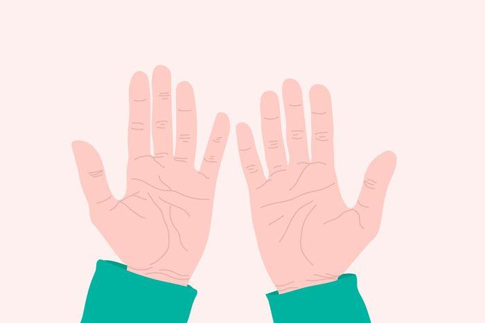 illustration of hands, palms up