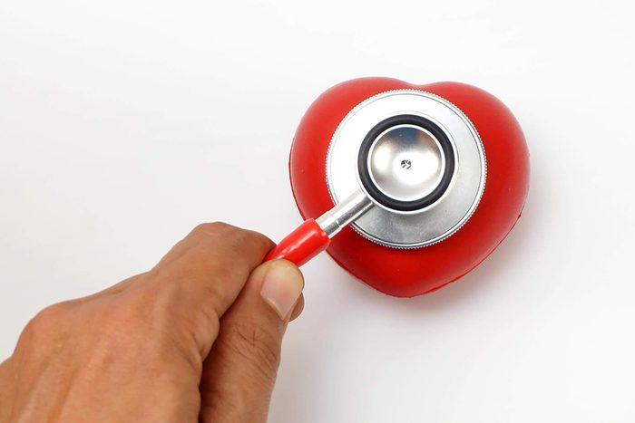Heart-shaped stethoscope