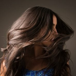 woman flipping her hair