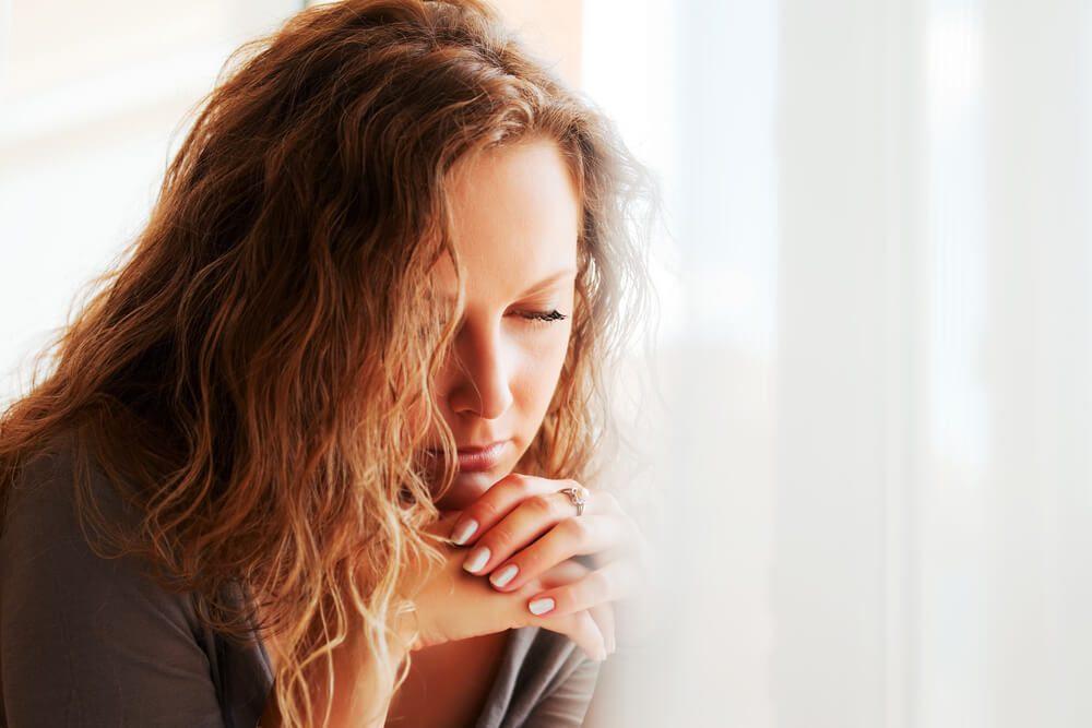 Sad, stressed woman