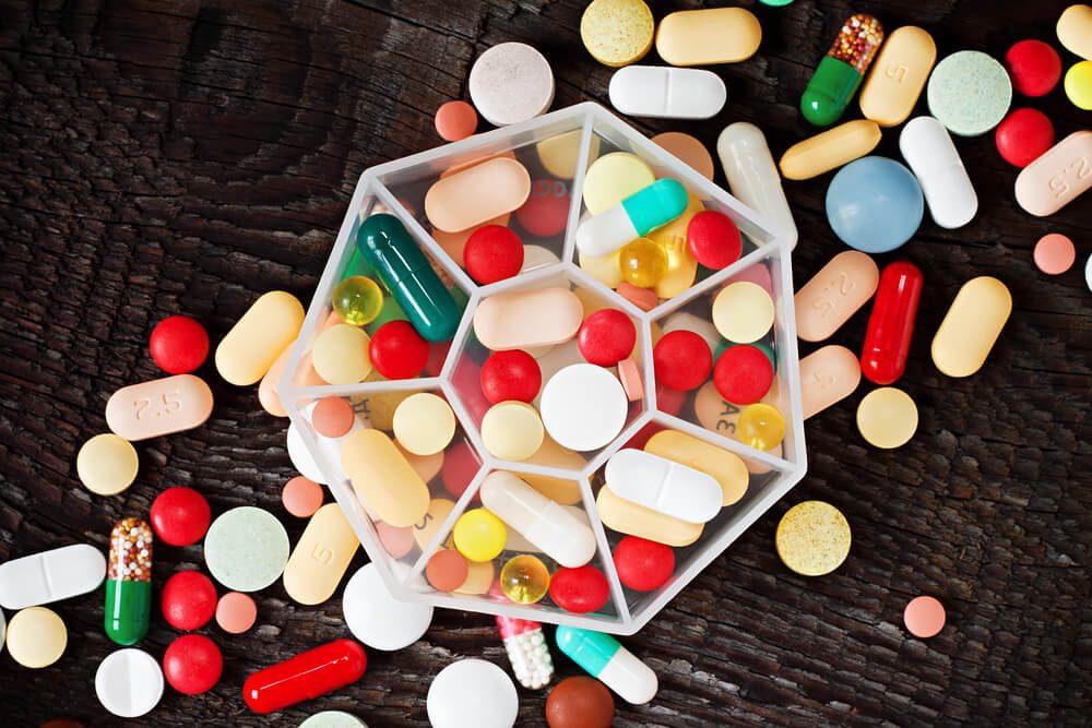 box of pills and medication