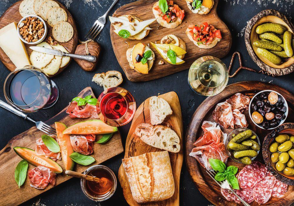 bread, vegetables, Mediterranean diet