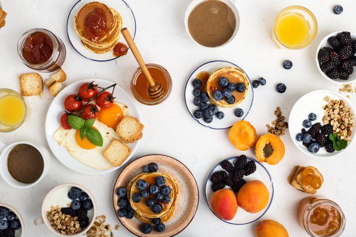 breakfast spread from above