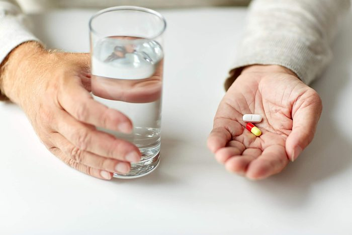 hand holding medication