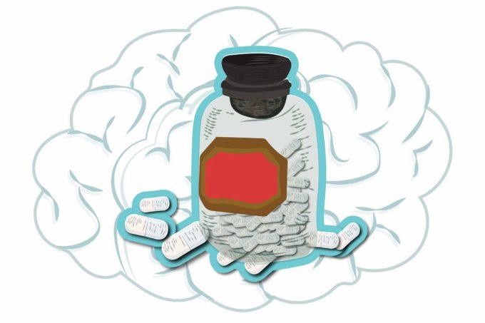 illustration of a pill bottle