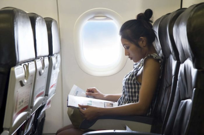 Passenger in the airplane