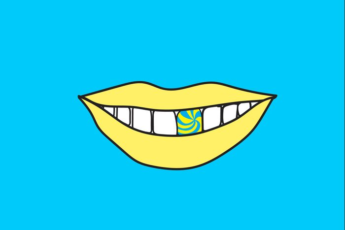 illustration of smile with sweet tooth