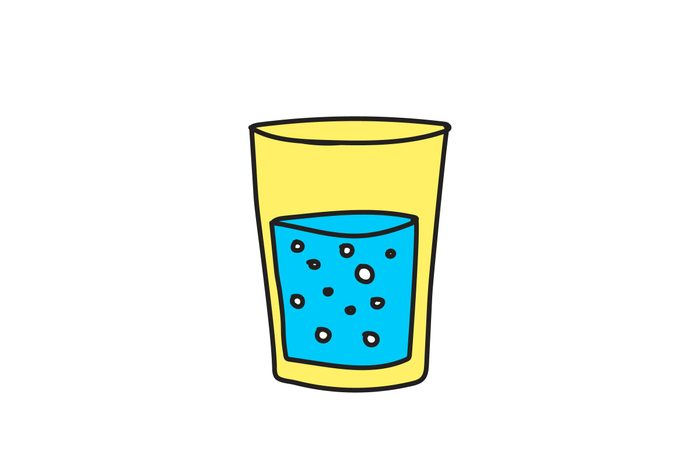 illustration of glass half empty or full
