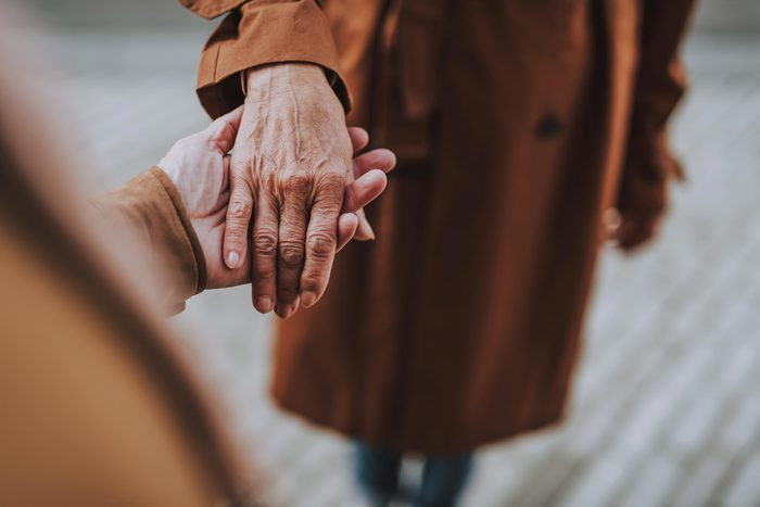 elderly woman hand