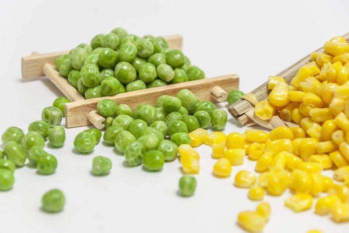 Peas and corn